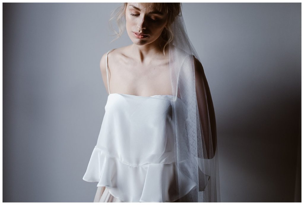 woman in camisole - alternative wedding photographer manchester